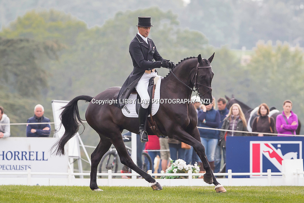 NZL-Andrew Nihcolson (CILLNABRADDE EVO) INTERIM-6TH: CIC3* 8&9YO: FIRST DAY OF DRESSAGE: 2014 GBR-Blenheim Palace International Horse Trial (Thursday 11 September) CREDIT: Libby Law COPYRIGHT: LIBBY LAW PHOTOGRAPHY - NZL