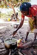 Preparing and cooking lunch at local village on Bazaruto Island