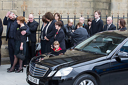 © Licensed to London News Pictures . 20/09/2014 . Manchester , UK . Mourners wait outside the cathedral . Arrivals at the funeral of Heywood and Middleton MP Jim Dobbin at Salford Cathedral today (Saturday 20th September 2014) . Photo credit : Joel Goodman/LNP
