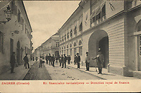 Zagreb (Croatie) : Kr. financialno ravnateljstvo = Direction royal de finance. <br /> <br /> ImpresumZagreb : Naklada M. Iaklin, [19--].<br /> Materijalni opis1 razglednica : tisak ; 9 x 13,8 cm.<br /> NakladnikNaklada M. Jaklin<br /> Mjesto izdavanjaZagreb<br /> Vrstavizualna građa • razglednice<br /> ZbirkaGrafička zbirka NSK • Zbirka razglednica<br /> Formatimage/jpeg<br /> PredmetZagreb –– Opatička<br /> SignaturaRZG-OPAU-3<br /> Obuhvat(vremenski)20. stoljeće<br /> PravaJavno dobro<br /> Identifikatori000952681<br /> NBN.HRNBN: urn:nbn:hr:238:702165 <br /> <br /> Izvor: Digitalne zbirke Nacionalne i sveučilišne knjižnice u Zagrebu
