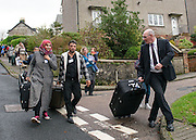 Syrian Refugees arrive on the Scottish Island of Bute during the 2015 international refugee crisis.<br /> <br /> &copy; John Linton<br /> All rights reserved