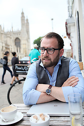 UK ENGLAND CAMBRIDGE 6SEP16 - Economics engineer Marcus Lycke (29) from Ostrohe, Germany at a cafe in  Cambridge city centre.<br /> <br /> jre/Photo by Jiri Rezac<br /> <br /> © Jiri Rezac 2016