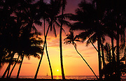 Sunset, Kohala Coast, Island of Hawaii, Hawaii, USA<br />
