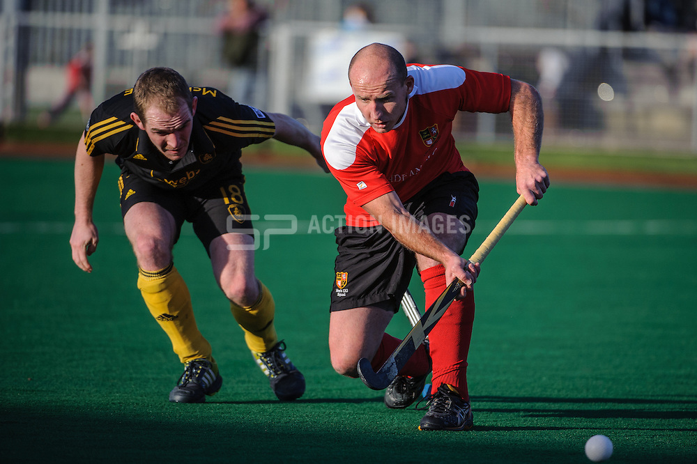 Ryan Ravenscroft of Holcombe during their match against Beeston in the England Hockey Men's Cup