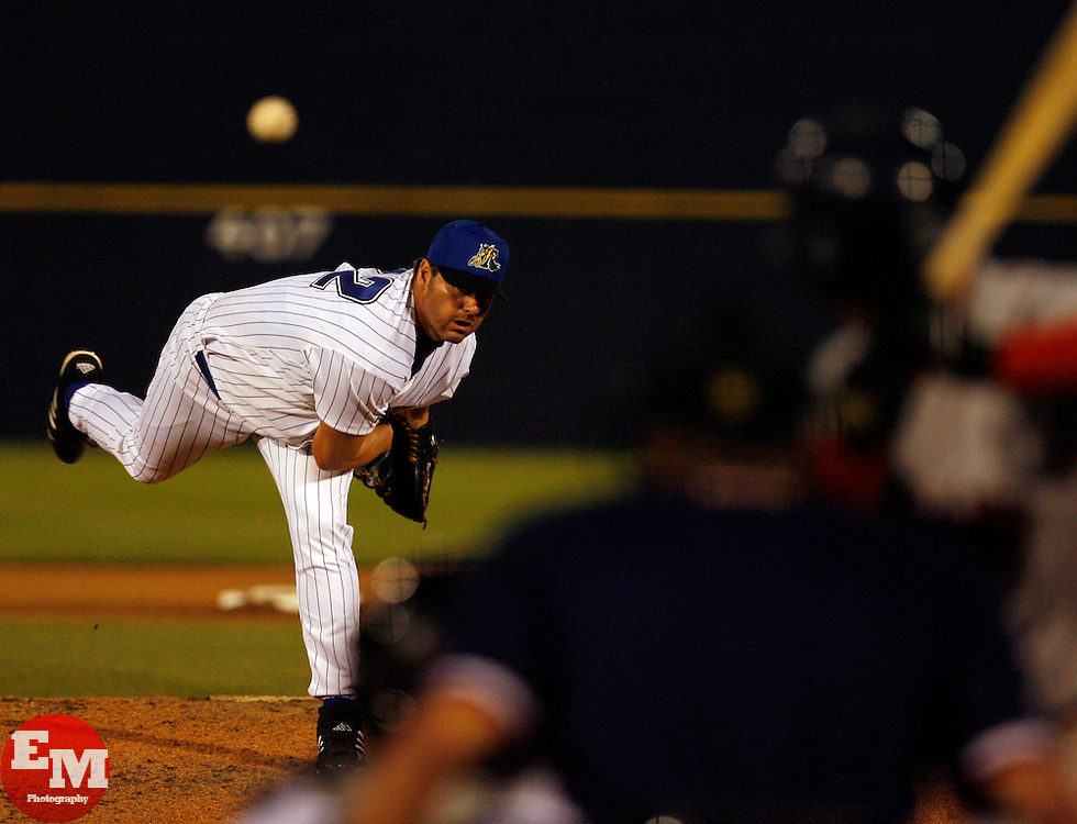May 23, 2007; Trenton, NJ, USA;  Roger Clemens (22) pitches for the Trenton Thunder (New York Yankees Double-A affiliate) during their Eastern League game against the Portland Sea Dogs at Waterfront Park in Trenton, NJ.