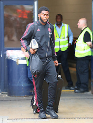 Ro-Shaun Williams is spotted at the Manchester Airport, UK as the Manchester United Football Club return from their USA Pre-Season tour on July 1, 2018.