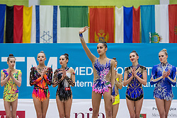 Medal Ceremony at 29th MTM - International tournament in rhythmic gymnastics Ljubljana, on March 12, 2016 in gymnastics center Ljubljana, Ljubljana, Slovenia.  Photo by Grega Valancic / Sportida