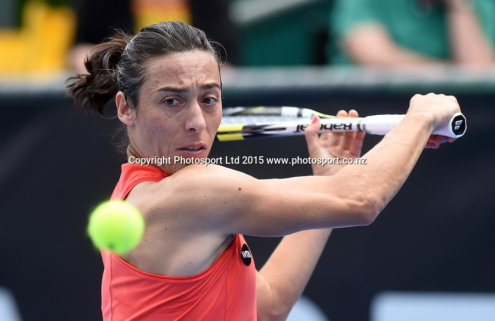 Italy's Francesca Schiavone during her first round singles match on Day 2 at the ASB Classic WTA International. Auckland, New Zealand. Tuesday 6 January 2015. Copyright photo: Andrew Cornaga/www.photosport.co.nz