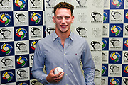 Kyle Glogoski.<br /> Kyle Glogoski at the Philadelphia Phillies signing ceremony held at Lloyd Elsmore Park, Pakuranga, Auckland, New Zealand. 4 January 2018. &copy; Copyright Image: Marc Shannon / www.photosport.nz.