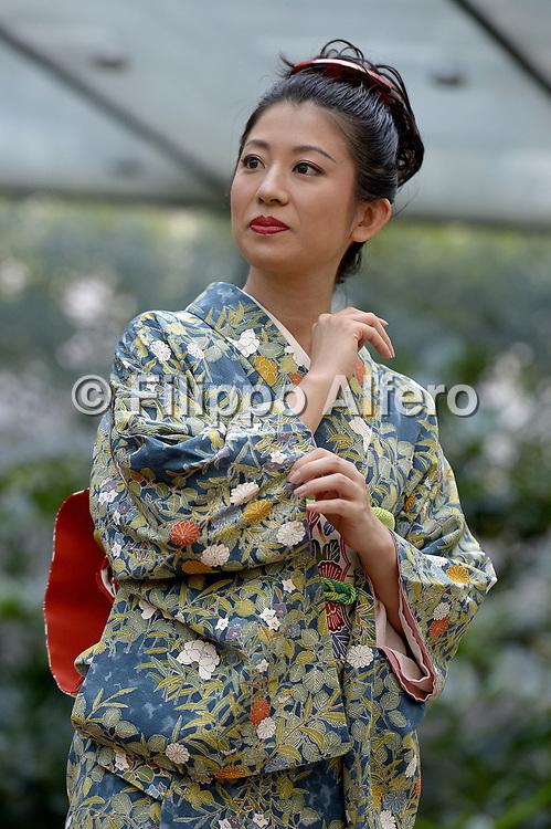 &copy; Filippo Alfero<br /> MAO, lezione di vestizione del kimono<br /> Torino, 24/09/2016