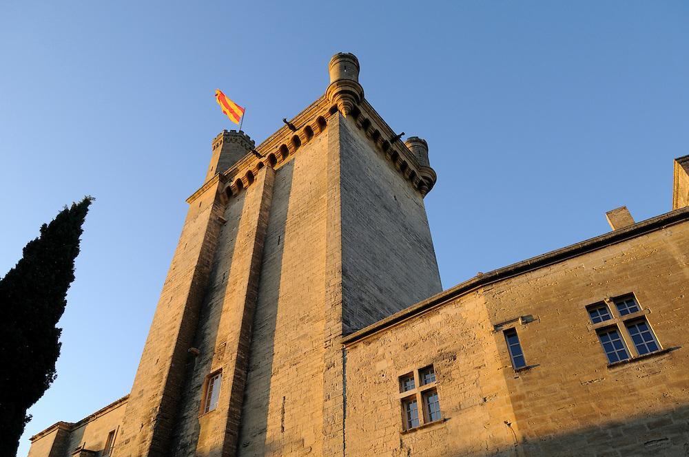 France,Languedoc Roussillon, Gard (30), Uzège, Uzès, le Duché, la tour Bermonde