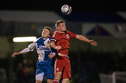 BRISTOL, ENGLAND - Thursday, January 15, 2009: Liverpool's captain Joe Kennedy in action against Bristol Rovers during the FA Youth Cup match at the Memorial Stadium. (Mandatory credit: David Rawcliffe/Propaganda)