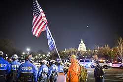January 30, 2018 - Washington Dc, DC, U.S - Washington Dc, Jan 30, 2018 - Activists run a protest evening Tuesday, State of the Union events against President Donald Trump's speech. .Civil rights advocates from the NAACP and the women leading the ''MeToo'' movement are among those who will hold events to counter the State of the Union address.  (Credit Image: © Ardavan Roozbeh via ZUMA Wire)