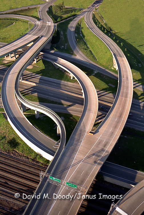 Aerial view I-664 at Newport News, VA