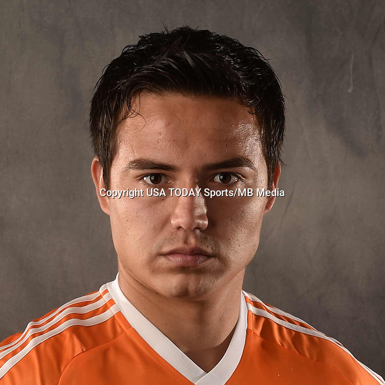 Feb 25, 2016; USA; Houston Dynamo player Erick Torres poses for a photo. Mandatory Credit: USA TODAY Sports