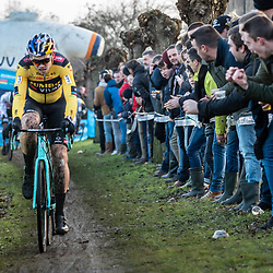 2019-12-27 Cycling: dvv verzekeringen trofee: Loenhout: Wout van Aert on his way to a fifth place
