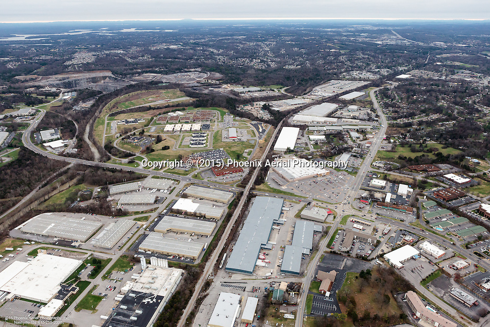 Aerial Photo Showing Metroplex Business Park Located Off Of Harding Place In Nashville Tennessee