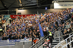 02.11.2014, Curt-Frenzel-Stadion, Augsburg, GER, DEL, Augsburger Panther vs Schwenninger Wild Wings, 16. Runde, im Bild Fans (Schwenninger Wild Wings) // during Germans DEL Icehockey League 16th round match between Augsburger Panther and Schwenninger Wild Wings at the Curt-Frenzel-Stadion in Augsburg, Germany on 2014/11/02. EXPA Pictures © 2014, PhotoCredit: EXPA/ Eibner-Pressefoto/ Kolbert<br /> <br /> *****ATTENTION - OUT of GER*****