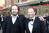Alfie Boe and Neil Ferris (manager)