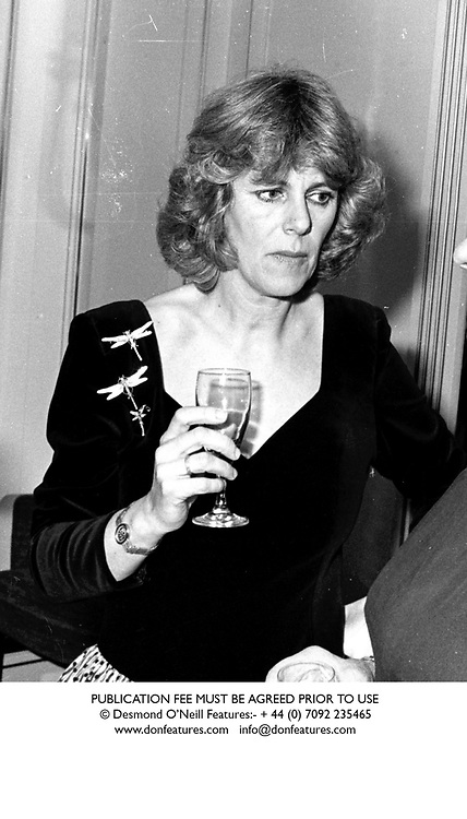 CAMILLA PARKER BOWLES in March 1989.<br /> JWU 50 WOLO<br /> PUBLICATION FEE MUST BE AGREED PRIOR TO USE<br /> © Desmond O'Neill Features:- + 44 (0) 7092 235465<br /> www.donfeatures.com   info@donfeatures.com