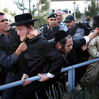Ultra Orthodox Jewish protest, Jerusalem, June 2009.