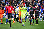 Bolton Wanderers goalkeeper Ben Alnwick (1) leading his team out before the EFL Sky Bet Championship match between Ipswich Town and Bolton Wanderers at Portman Road, Ipswich, England on 22 September 2018.