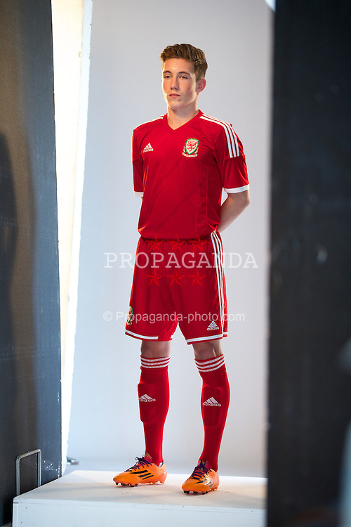 CARDIFF, WALES - Tuesday, March 4, 2014: Wales' Harry Wilson during a promotional photo shoot at the St. David's Hotel ahead of the International Friendly against Iceland. (Pic by David Rawcliffe/Propaganda)