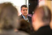 14 FEB 2019, ORANIENBURG/GERMANY:<br /> Siegmar Gabriel, SPD, ehem. Prateivorsitzender und Bundesminister a.D., Buergerveranstaltung der SPD Oranienburg, Im Oranienwerk <br /> IMAGE: 20190214-03-034