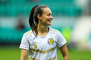 Abbi Grant (#16) of Scotland ahead of the Women's Euro Qualifiers match between Scotland Women and Cyprus Women at Easter Road, Edinburgh, Scotland on 30 August 2019.