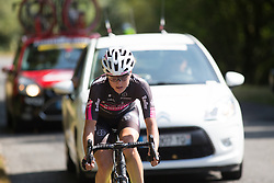 Spela Kern of BTC City Ljubljsana Cycling Team tries to put a gap between her and the peloton in the second lap of the 121.5 km road race of the UCI Women's World Tour's 2016 Grand Prix Plouay women's road cycling race on August 27, 2016 in Plouay, France. (Photo by Balint Hamvas/Velofocus)