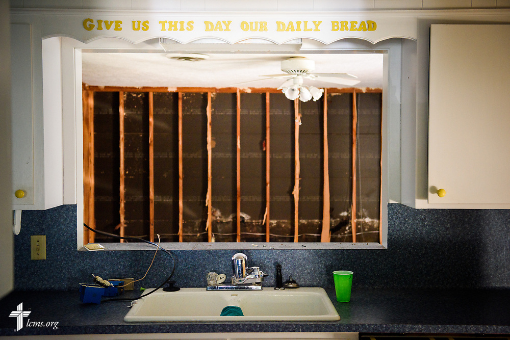 The damaged parsonage at Memorial Lutheran Church, Katy, Texas, following Hurricane Harvey on Friday, Sept. 1, 2017. LCMS Communications/Erik M. Lunsford