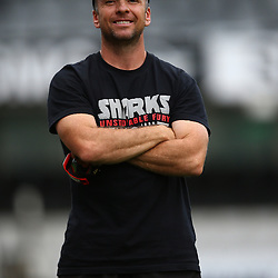 DURBAN, SOUTH AFRICA, 6 September, 2016 - Johan Pretorius Head Strength & Conditioning Coach during The Cell C Sharks training session at Growthpoint Kings Park in Durban, South Africa. (Photo by Steve Haag)<br /> <br /> images for social media must have consent from Steve Haag