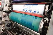 Heidelberg Offset Printing Press. Sheet-fed offset printing is used predominantly for high-quality, multi-colour products, such as catalogues, calendars, posters, and labels.