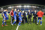 Worthing receive runners up medals during the Sussex Senior Cup Final match between Eastbourne Borough and Worthing FC at the American Express Community Stadium, Brighton and Hove, England on 20 May 2016.