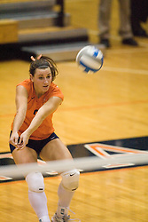 Virginia Cavaliers L Melissa Caldwell (9) The Virginia Cavaliers Volleyball Team fell to the Duke Blue Devils three games to none on November 16, 2006 at Memorial Gymnasium in Charlottesville, VA...