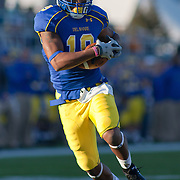 11/12/11 Newark DE: Delaware Wide receiver Nihja White #19 catches a pass  for 34 yards to the RICHMOND 6 a during a Week 10 NCAA football game.<br /> <br /> Delaware defeated Richmond 24-10 in front of 18, 808 fans at Delaware Stadium on Saturday Nov. 12, 2011 in Newark Delaware...Special to The News Journal/SAQUAN STIMPSON