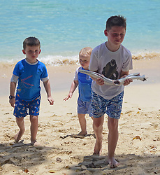 EXCLUSIVE: Kai Rooney pictured with a huge fish while on holiday in Barbados. 20 May 2018 Pictured: Kai Rooney. Photo credit: MEGA TheMegaAgency.com +1 888 505 6342