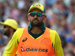 June 13, 2018 - London, England, United Kingdom - Nathan Lyon of Australia.during One Day International Series match between England and Australia at Kia Oval Ground, London, England on 13 June 2018. (Credit Image: © Kieran Galvin/NurPhoto via ZUMA Press)