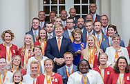 The Hague, 21-09-2016<br /> <br /> King Willem-Alexander and Princess Margriet received the Paralympic Medalists of the Paralympic Games in Rio de Janeiro 2016<br /> <br /> Royalportraits Europe/Bernard Ruebsamen