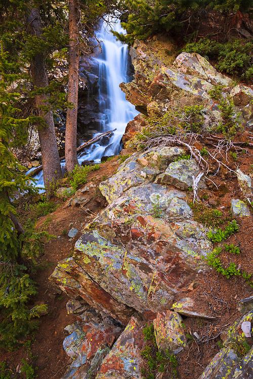 A waterfall in the Wheeler Peak Wilderness, near Taos, New Mexico.