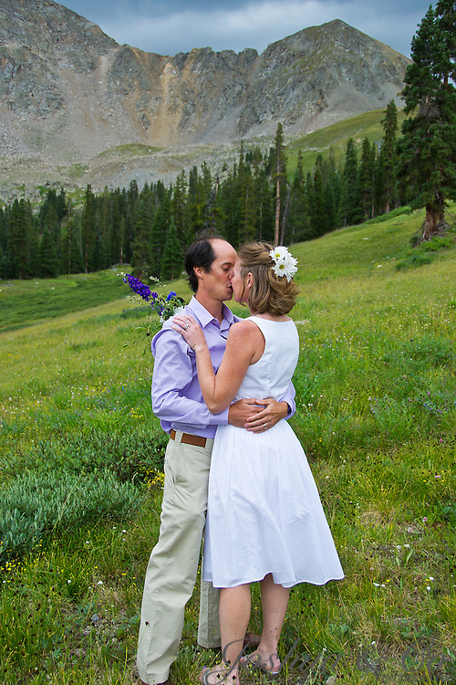 The wedding of FJ Avellana and Anne Milmoe at the Black Mountain Lodge on the slopes of Arapahoe Basin near Keystone, Colorado, on Saturday, Aug. 27, 2011...Photo by Joshua Lawton /  / Joshua & Co. Photography..www.joshuacophotography.com