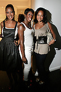 "Sandy Lomax, Traceye Smith, and Debbie Ascrate at The Bombay Sapphire & Vibe Magazine Present Ashanti's ""The Declaration"" A Listening Party held at The W Hotel (West Street) on June 4, 2008"