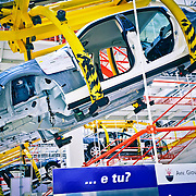 Stabilimento Maserati di Grugliasco (Torino) - dove vengono prodotte la Maserati Quattroporte e la Maserati Ghibli. New Maserati factory at Grugliasco as Fiat opens a new plant for the manufacture of Maserati sport cars near its headquarters in Turin,
