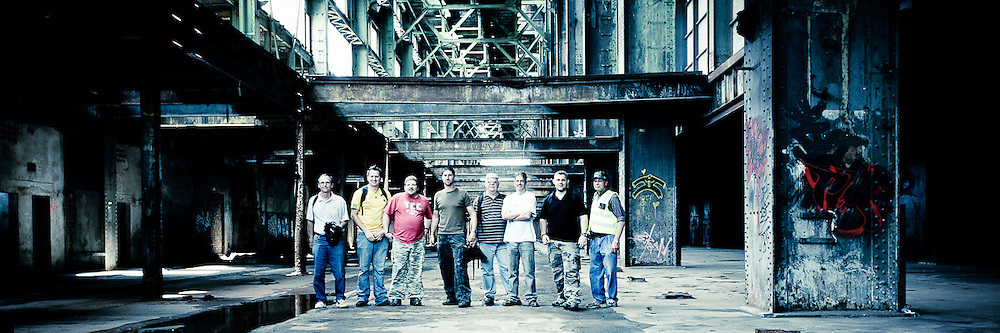 Orlando Power station Urbex Group Shot.<br /> <br /> This was taken at an outing to the derelict and abandoned Power station in Orlando, Soweto.