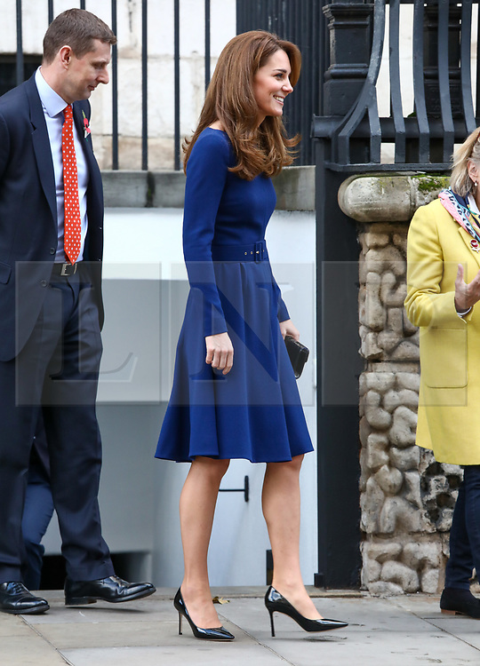 © Licensed to London News Pictures. 07/11/2019. London, UK. Duchess of Cambridge leaves the launch of the National Emergencies Trust at St Martin-in-the-Field, London. The National Emergencies Trust is an independent charity which will provide an emergency response to disasters in the UK. Photo credit: Alex Lentati/LNP