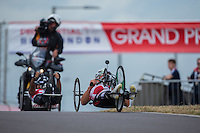 LONDON UK 29TH JULY 2016:  Walter Ablinger (AUT). Prudential RideLondon Elite Handcycle Grand Prix at the London Velo Park. Prudential RideLondon in London 29th July 2016<br /> <br /> Photo: Jed Leicester/Silverhub for Prudential RideLondon<br /> <br /> Prudential RideLondon is the world&rsquo;s greatest festival of cycling, involving 95,000+ cyclists &ndash; from Olympic champions to a free family fun ride - riding in events over closed roads in London and Surrey over the weekend of 29th to 31st July 2016. <br /> <br /> See www.PrudentialRideLondon.co.uk for more.<br /> <br /> For further information: media@londonmarathonevents.co.uk