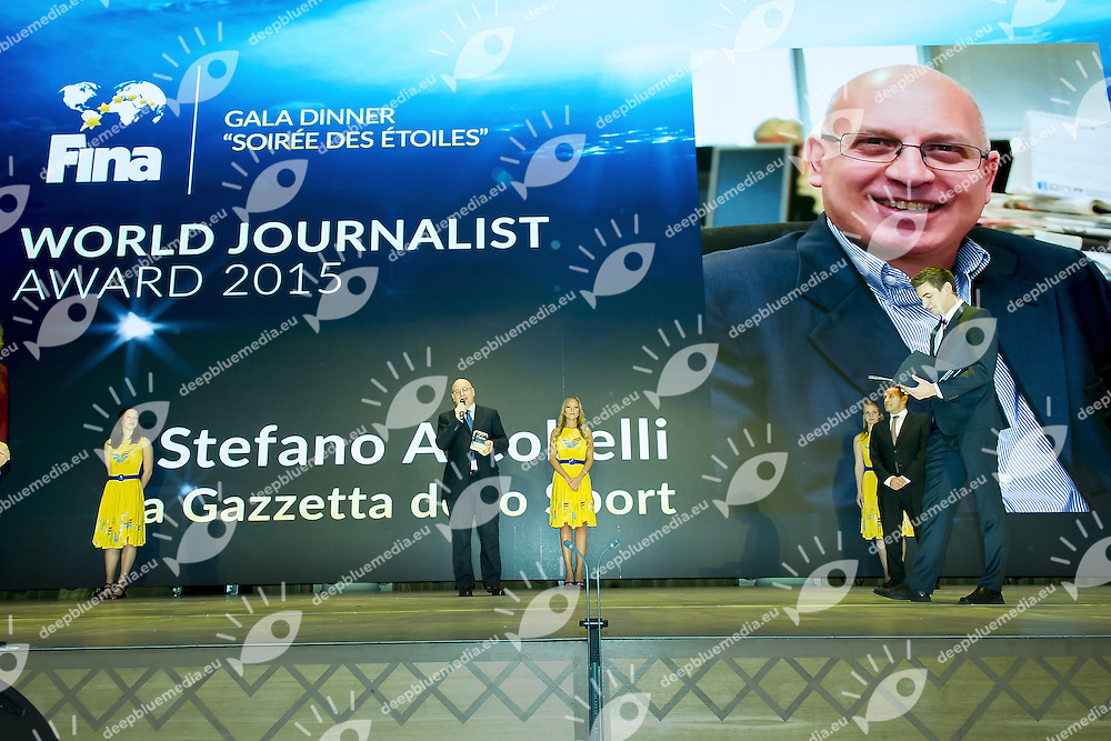 Stefano Arcobelli Journalist of the Year 2015<br /> FINA BEST ATHLETES OF THE YEAR 2015<br /> Hotel Intercontinental Budapest, Hungary<br /> 31 January 2016<br /> Photo G.Scala/Deepbluemedia