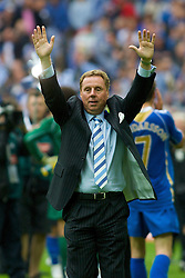 LONDON, ENGLAND - Saturday, May 17, 2008: Portsmouth's manager Harry Redknapp celebrates winning the FA Cup after beating Cardiff City 1-0 during the FA Cup Final at Wembley Stadium. (Photo by Chris Ratcliffe/Propaganda)
