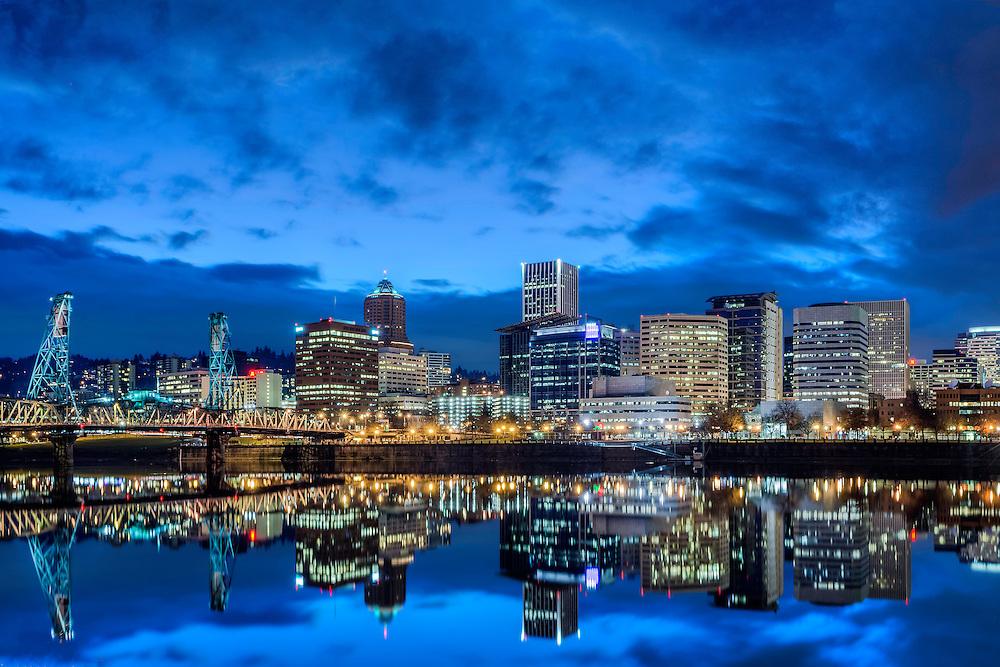 Portland Skyline, Portland, OR.