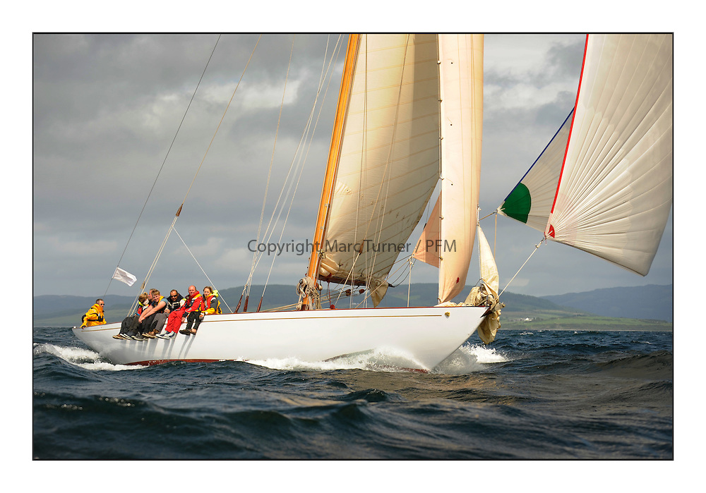 Day five of the Fife Regatta, Race from Portavadie on Loch Fyne to Largs. <br /> Solway Maid, Roger Sandiford, GBR, Bermudan Cutter, Wm Fife 3rd, 1940<br /> <br /> <br /> * The William Fife designed Yachts return to the birthplace of these historic yachts, the Scotland&rsquo;s pre-eminent yacht designer and builder for the 4th Fife Regatta on the Clyde 28th June&ndash;5th July 2013<br /> <br /> More information is available on the website: www.fiferegatta.com
